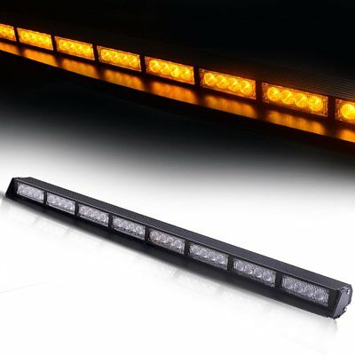 "32LED 34""Traffic Advisor Emergency Warning Vehicle Strobe Flash light bar YELLOW"