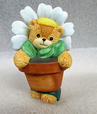 Lucy and Me ~ Daisy Flower Plant Planter ~ Porcelain Figurine