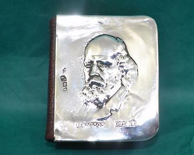 Miniature sterling silver mounted Tennyson's Poetical Works Eyre & Spottiswoode
