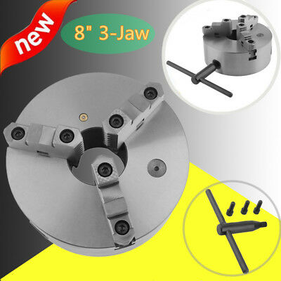 "8"" ( 8 Inch) 3 Jaw Self Centering Lathe Chuck Front Mount in Prime Quality NEW"