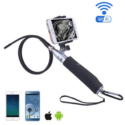Handheld 8mm 720P Rigid WIFI Endoscope Inspection Camera 6 LED 2MP + IOS Android