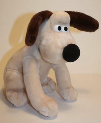 "Wallace and Gromit Plush Dog 1989 vtg 10"" sitting Born to Play"