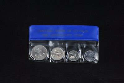 1981 Cyprus Coin Set Of In The Official Case Of Central Bank Of Cyprus
