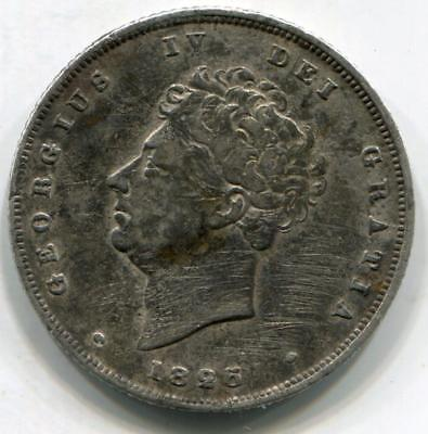 1825 King George IV Solid Sterling Silver Vintage Shilling Great Britain UK