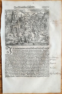 Livius History of Rome Post Incunable Woodcut Schoeffer (135) - 1530