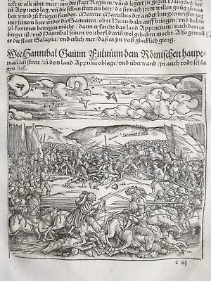 Livius History of Rome Post Incunable Woodcut Schoeffer (151) - 1530