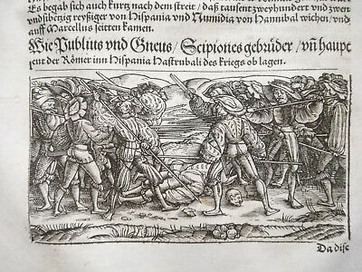 Livius History of Rome Post Incunable Woodcut Schoeffer (125) - 1530