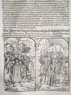 Livius History of Rome Post Incunable Woodcut Schoeffer (127) - 1530