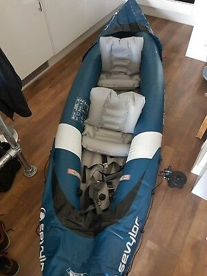 Sevylor Riviera 2 Inflatable Kayak NEW USED ONCE