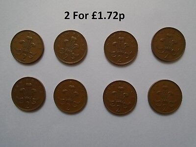 2p New Pence Coins x2 Included Old Coins Collection coins