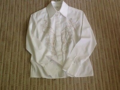 Ladies Size 8 Blouse By Next For Lead Rein Evening Or Championship Classes White
