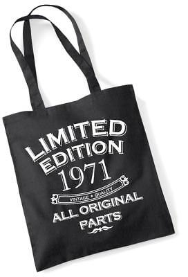 49th Birthday Gift Bag Tote Mam Shopping Limited Edition 1971 All Original Parts