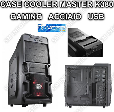 Case Pc Gaming Middle Tower K380 Side Windows Desktop Pc Fisso Acciaio Micro Atx