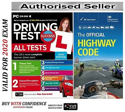 2019 Driving Theory Test & Hazard CD Rom DVD Highway Code Book Car atpHw