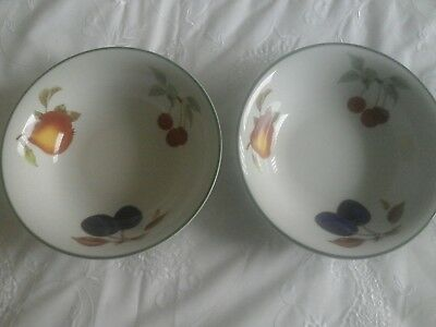 2 x Royal Worcester dishes Evesham Vale pattern Not used.