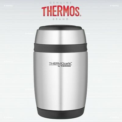 Thermos ThermoCafe Curved Food Flask with Stainless Steel Spoon 400ml
