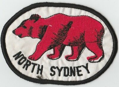 North Bears Patch, NRL, ARL, Cloth, Badge, Embroidered, 1959, Rugby League