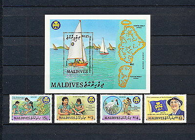 ALAD 044 MALDIVES Girl Scouts & Girl Guides 1987 MNH