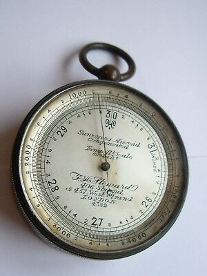 J.h.steward Surveying Aneroid Pocket Barometer & Altimeter : Fully Working