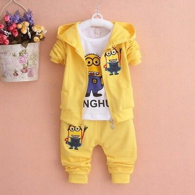 Newest 2017 Baby Girls Boys Minion Suits Infant/Newborn Clothes Sets Kids