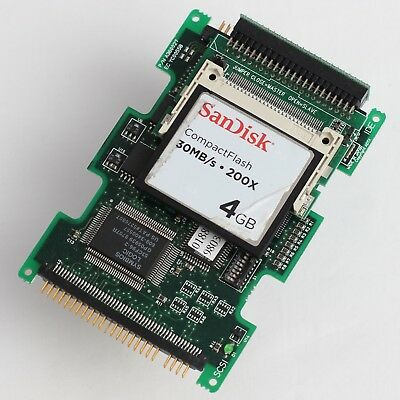 """2.5"""" SCSI to IDE Adapter with SanDisk 4GB Compact Flash Card 44Pin IDE *Working*"""