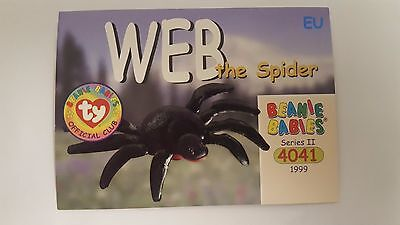 Web the Spider TY Beanie Baby collector card Series 2