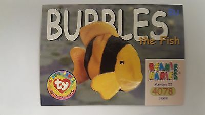Bubbles the Fish TY Beanie Baby collector card Series 2 EU