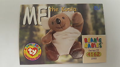 TY Beanie Baby collector card Mel The Koala Series 2 EU