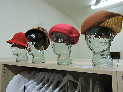 Glass Head Mannequin Hat Wig Stand Display Retro (4 Available)
