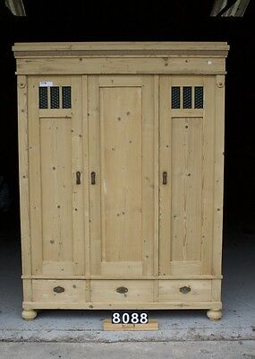 Antique Pine Triple Wardrobe