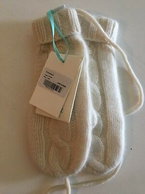 Gorgeous 100% Cashmere Winter Cream Mittens By Marie Chantal