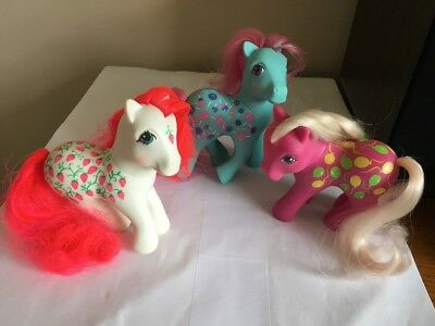 G1 VTG 80s My Little Pony sweet tooth  sugarberry twice as fancy Up Away toy Lot