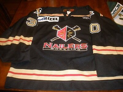 Wheeling Nailers Game Used Road Hockey Jersey #30 Valley  SP 58G 02-03 ECHL