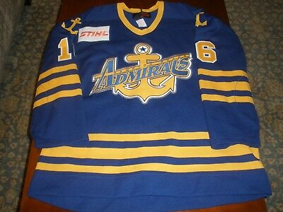 Hampton Road Admirals Game Worn Road Hockey Jersey #16 NOBR SP 54 ECHL