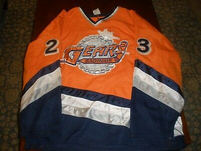 Saginaw Gears Game Used Road Hockey Jersey #23 Prpic AK XXL IHL Cool jersey