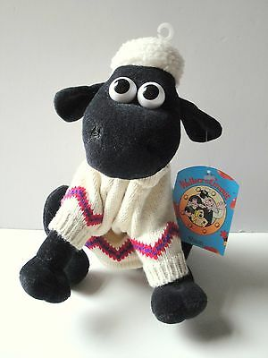 Vintage Original Shaun the Sheep in Jumper from Wallace and Gromit Aardman NEW