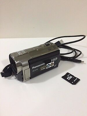 Almost Brand new Panasonic HC-V10 Camcorder 63x OPTICAL ZOOM FREE SD CARD READER