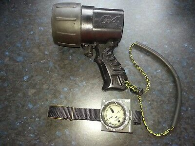 Twin bulb C4 Torch excellent condition together with Suunto wrist compas