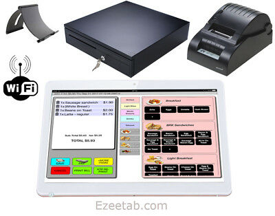 Point of sale POS system register for Restaurant Bar Takeout Touch Screen Tablet