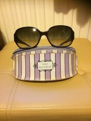 Lulu Guinness Purple Sunglasses in Case with Cleaning Cloth Hardly used