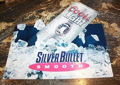 """1992 COORS LIGHT """"SILVER BULLET SMOOTH """" Tin Sign"""