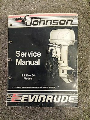 Johnson/Evinrude Service Manual 1987 - 9.9 thru 30 Models