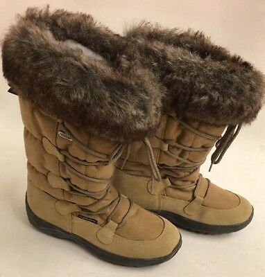 Bnwt mammal boots Squaw with oc anti slip spike Swivel system Ladies size 4
