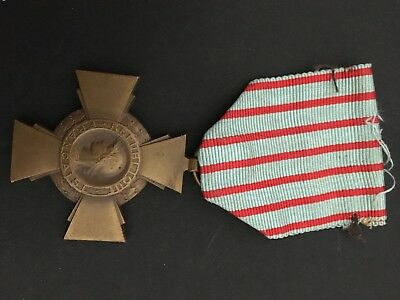 French medal : Cross of combattant : Croix du combattant France WW1
