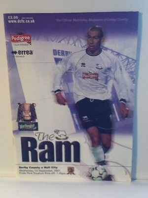 Derby County v Hull City 2001/02 Football Programme