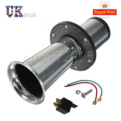 12V 110dB Universal Sound Antique Air Horn For Boat Train Car Trumpet Silvery UK