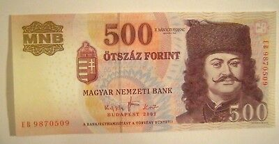 Banknote>Hungary>500 Forint>2007>Unc Cond.<