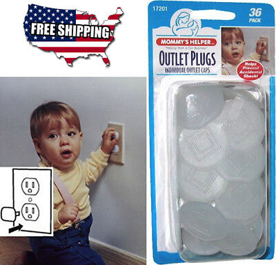 Electric Baby Safety Outlet Plug Protector Cover Child Cap Key Kids, 36 Count US