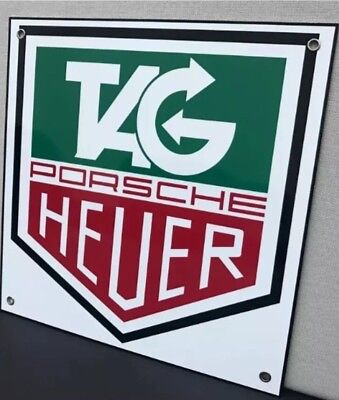 Heuer Racing Advertising Garage Sign