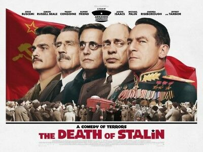 The Death Of Stalin Official Cinema Movie Uk Quad Poster Tambor Palin
